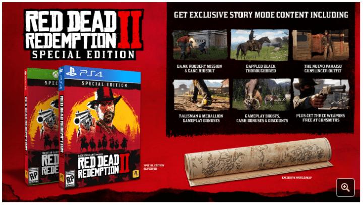 Red Dead Redemption 2 Preorder Bonuses Special Editions