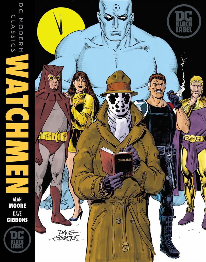 Watchmen gets a new cover for its Black Label edition. Art by Dave Gibbons. (DC Entertainment)