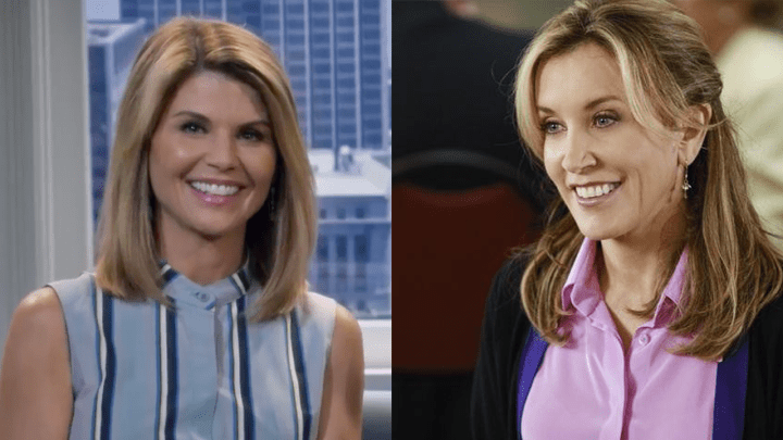 Loughlin (left) in Fuller House, Huffman (right) in Desperate Housewives.
