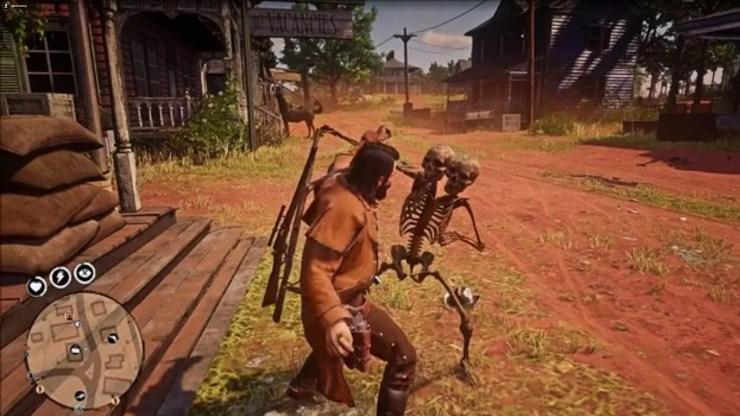 Usuários estão sendo atacados em Red Dead Redemption 2 Online por esqueletos.
