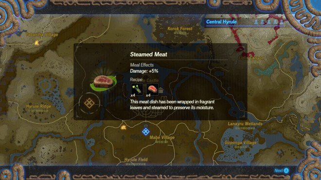 Hyrule-Warriors-Age-of-Calamity-IGN-Steamed-Meat-Recipe 54 Things Breath of the Wild Fans Will Love About Age of Calamity | IGN