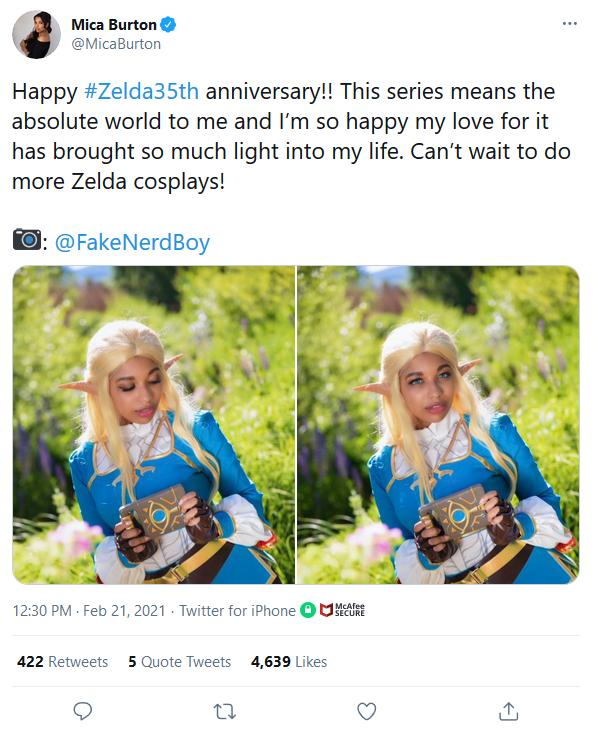 Screenshot_2021-02-22-Mica-Burton-on-Twitter It Felt Like Everyone Celebrated Zelda's 35th Anniversary Except Nintendo   IGN