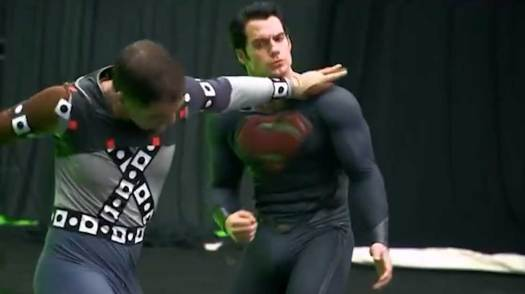 Henry Cavill shooting the Zod battle for Man of Steel.