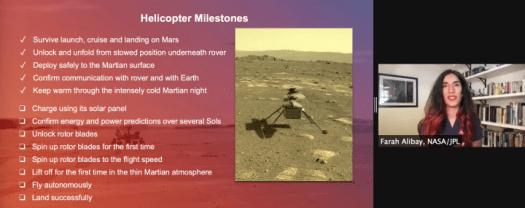 NASA Ingenuity Milestone List, Photo Credit: NASA