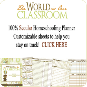 The World is Our Classroom Secular Homeschooling Planner
