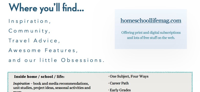 Homes/School/Life Magaznie Flyer