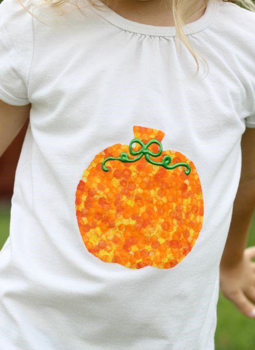 Halloween Craft: Pencil Eraser Stamped T-Shirt from Little Passports