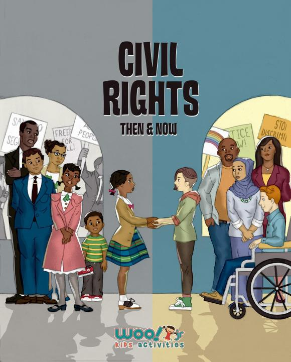 Book cover for Civil Rights Then and Now by Kristina Daniele