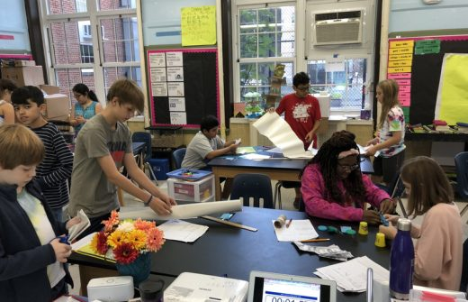 O-A 6th graders work on a design engineering project.