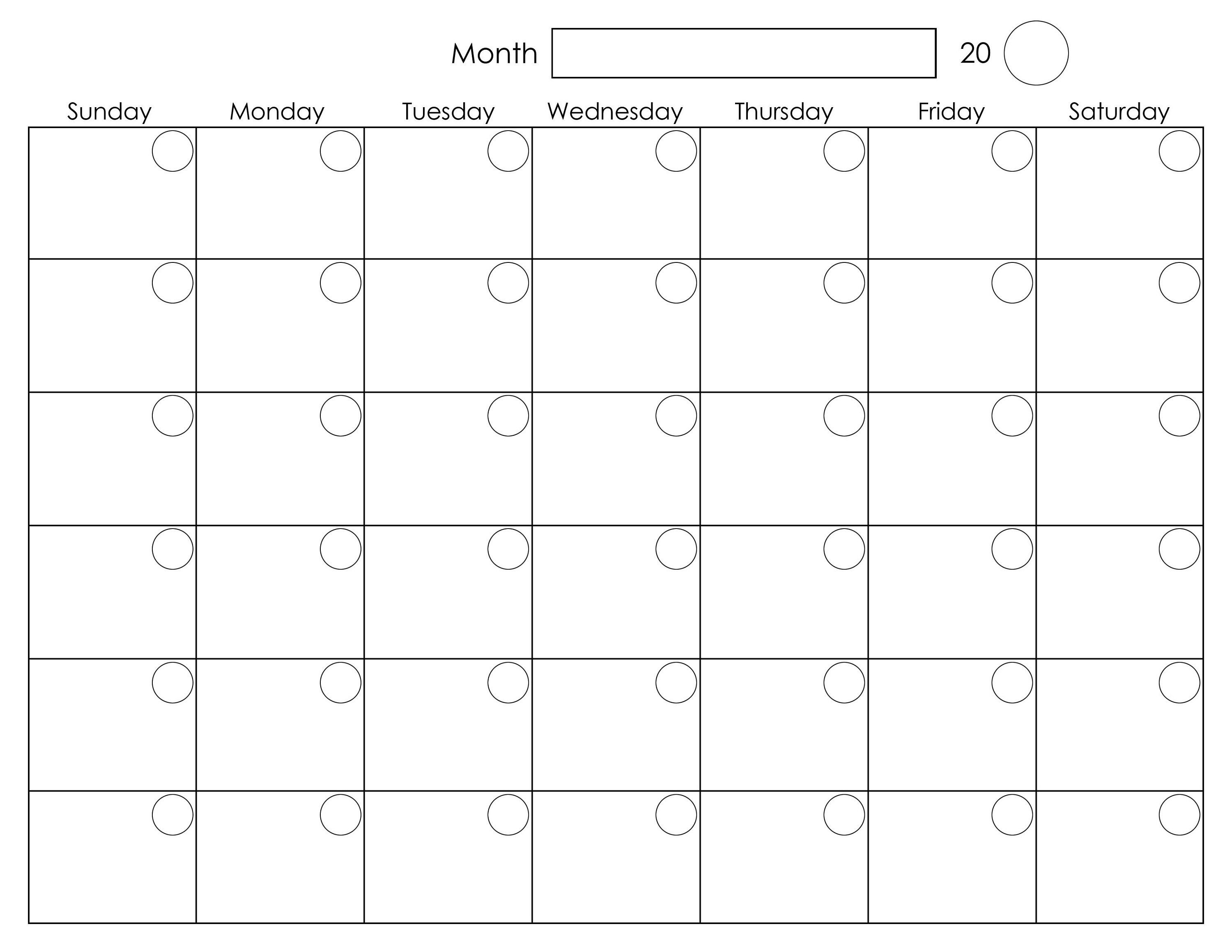 Our free printable 2021 calendar are available as microsoft word documents, open office format, pdf and image formats. Month To Month Blank Calendars   Calendar Template Printable