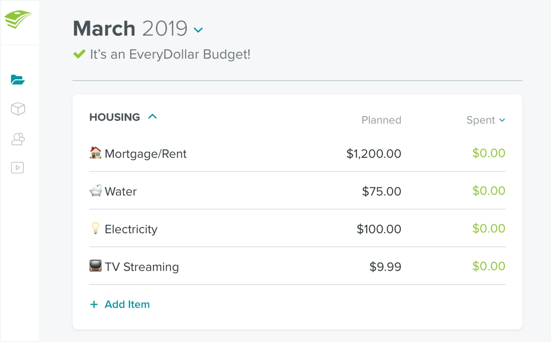 Make A Monthly Bill Chart