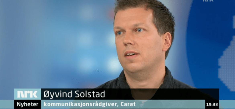 Øyvind Solstad i Dagsrevyen