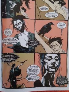"Pagina 7 din ""The Sandman"", volumul 6, ""Fables & Reflections"", DC Comics, Vertigo, 2012, Neil Gaiman, Bryan Talbot, Stan Woch, P. Craig Russel, Shawn McManus, John Watkiss, Jill Thompson, Duncan Eagleson, Kent Williams."