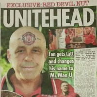 Mr Man U, the man who got Manchester United's emblem tattoo on forehead