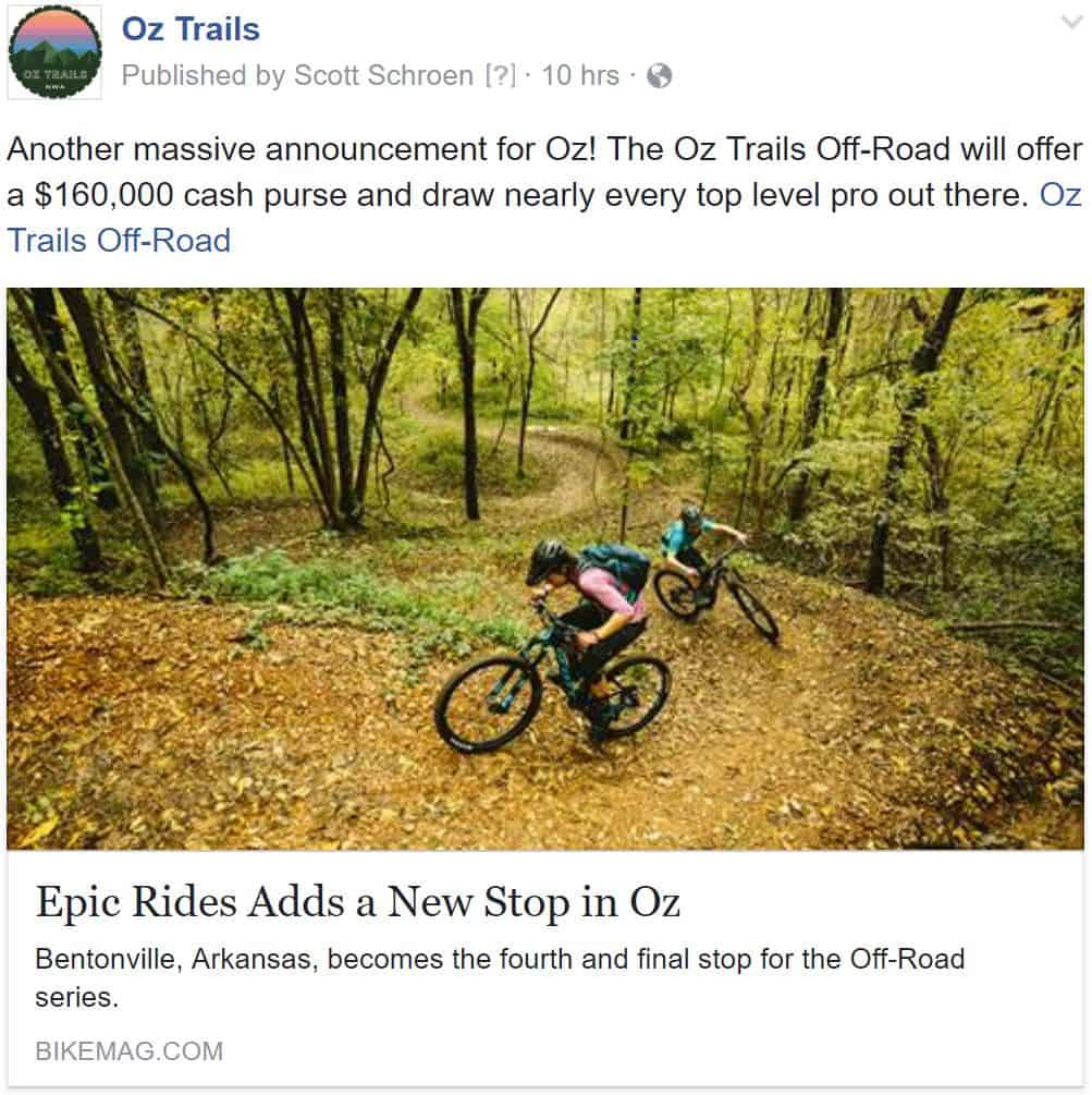 Weekend Ride Notification 9/22 - Ozark Cycling Adventures, Cycling news and Routes in Northwest Arkansas NWA