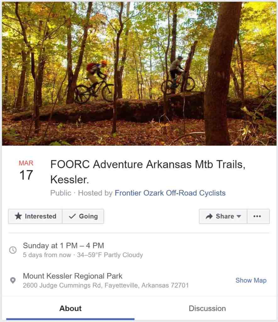 Weekend Ride Notification 3/15 | NWA Cycling News - Ozark Cycling Adventures, Cycling news and Routes in Northwest Arkansas NWA
