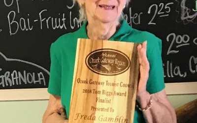 Ozark Gateway Region Leo Rainey Tourism Appreciation Banquet recently honored Freda Gamblin