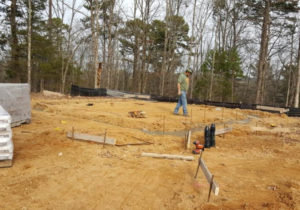 osage point luxury townhomes start foundation construction osage
