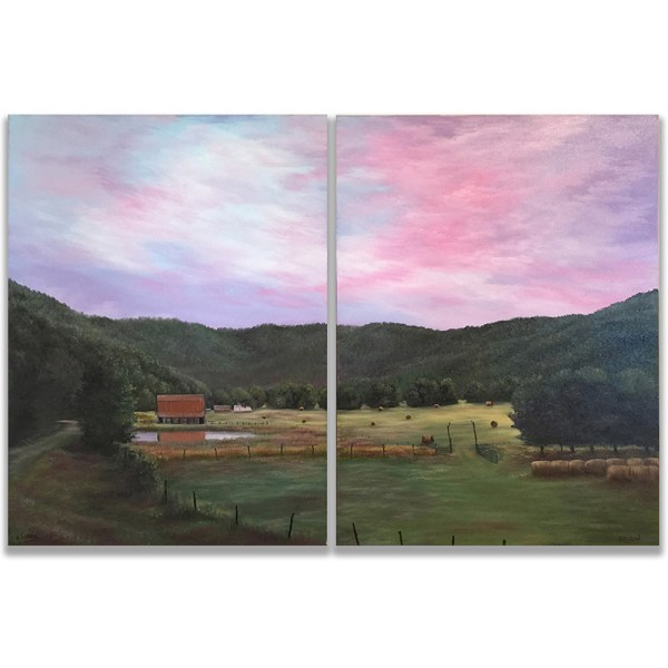Ozarks Art Gallery | Gary Duncan - Ponca Valley - Diptych