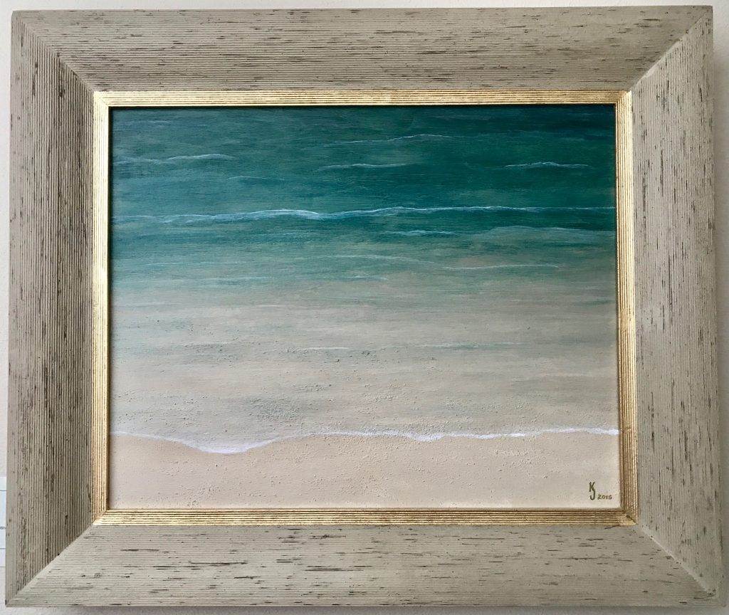 Ozarks Art Gallery | Pemaquid Tide - Original Textured Abstract Seascape Painting by KJ Burk