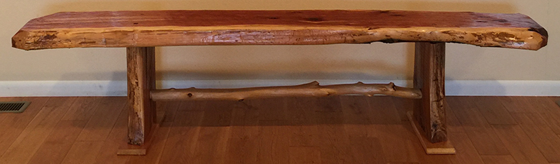 Ozarks Art Gallery | Hand-Crafted Furniture ~ Large Bench by Gary Duncan