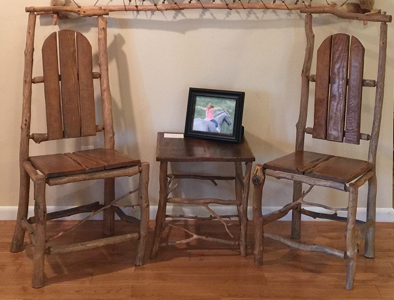 Ozarks Art Gallery | Hand-Crafted Furniture | Table with Chairs by Gary Duncan