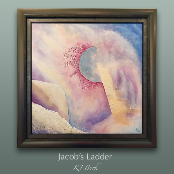 Ozarks Art Gallery | Jacob's Ladder ~ Original Textured Spiritual Abstract Christian Painting by KJ Burk