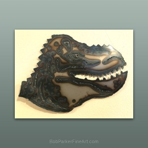 Ozarks Art Gallery | Original Metal Art by Bob Parker Dinosaur