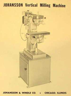 JOHANSSON Vertical Milling Machine Parts Manual   Ozark