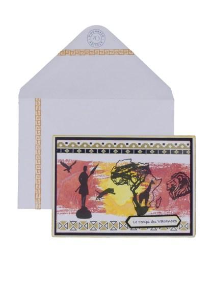 Carte Afrique Zyenko avec enveloppe