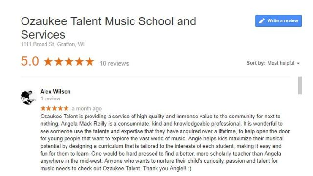 Google Review from Alex Wilson