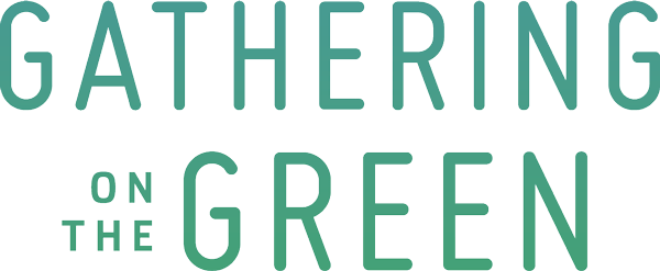 green gathering on the green logo