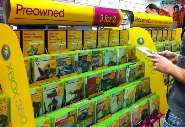 Preowned games sections in stores are a common sight now days - could this be a thing of the past though?