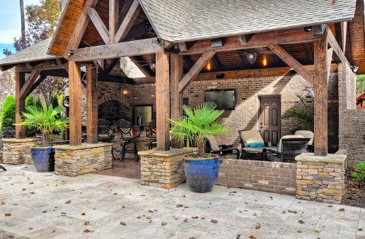 OZ Custom Homes of Charlotte Fort Mill Pool House