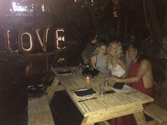 BRYNDIS HELGADOTTIR & OZEN rajneesh love affair engagement dinner