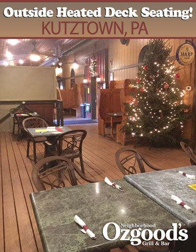 Outside Heated Seating Available Kutztown
