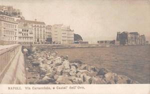Veduta del porto e vesuvio