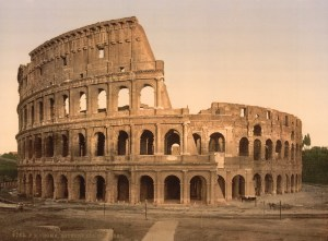 Exterior of the Coliseum, Rome, Italy