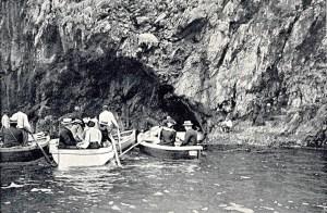 Napoli Italy Naples Azzurra Grotto Entrance Antique