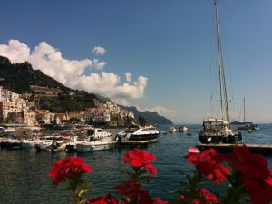 Positano harbour Amalif coast Italy