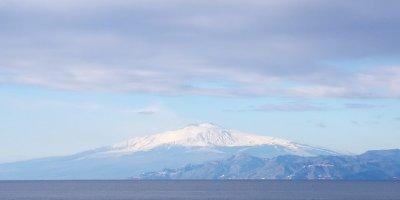 Reggio Calabria Deniz Etna Messina Boğazı