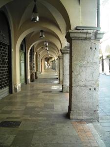 Cava De' Tirreni portico, Salerno Italy