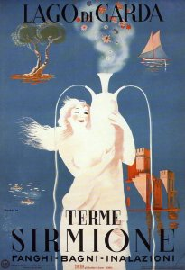 sirmione terme vintage posters Italy tourism