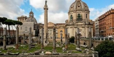 Trajan Sutunu Trajan Forumu Roma Italya Arkeoloji