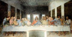 santa maria della grazie Son Akşam Yemeği Sanat Eseri Duvar