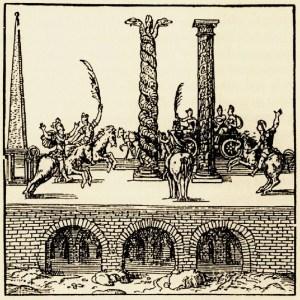 Serpent Column, Τρικάρηνος Όφις (Thevet, 1556)