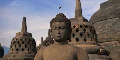 Temple Buddha Budizm Heykeli Antik Asya Borobudur