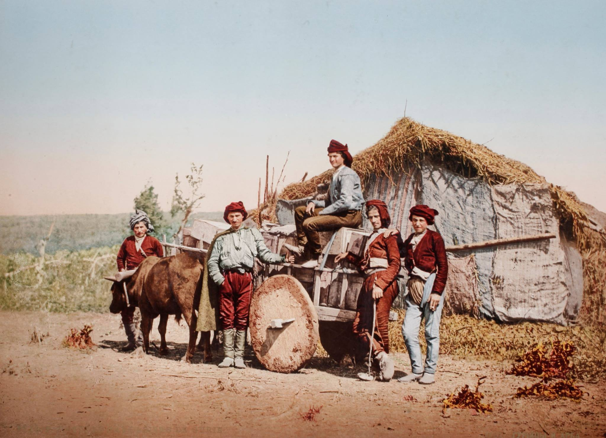 Georgian Farmers in Kobuleti, Georgia, 1877-78 at Russo-Ottoman War (Swiss Camera Museum)