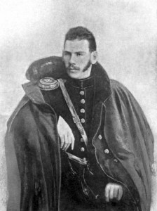 A rather dapper 2nd Lt Leo Tolstoy in 1854 when he was part of the artillery, his experiences during the war made him a pacifist.