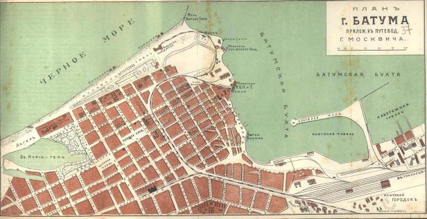 Batum map (Moskvich, 1913)